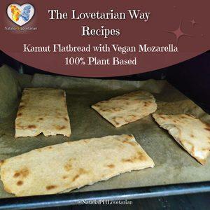 Kamut Flatbread with Vegan Mozarella